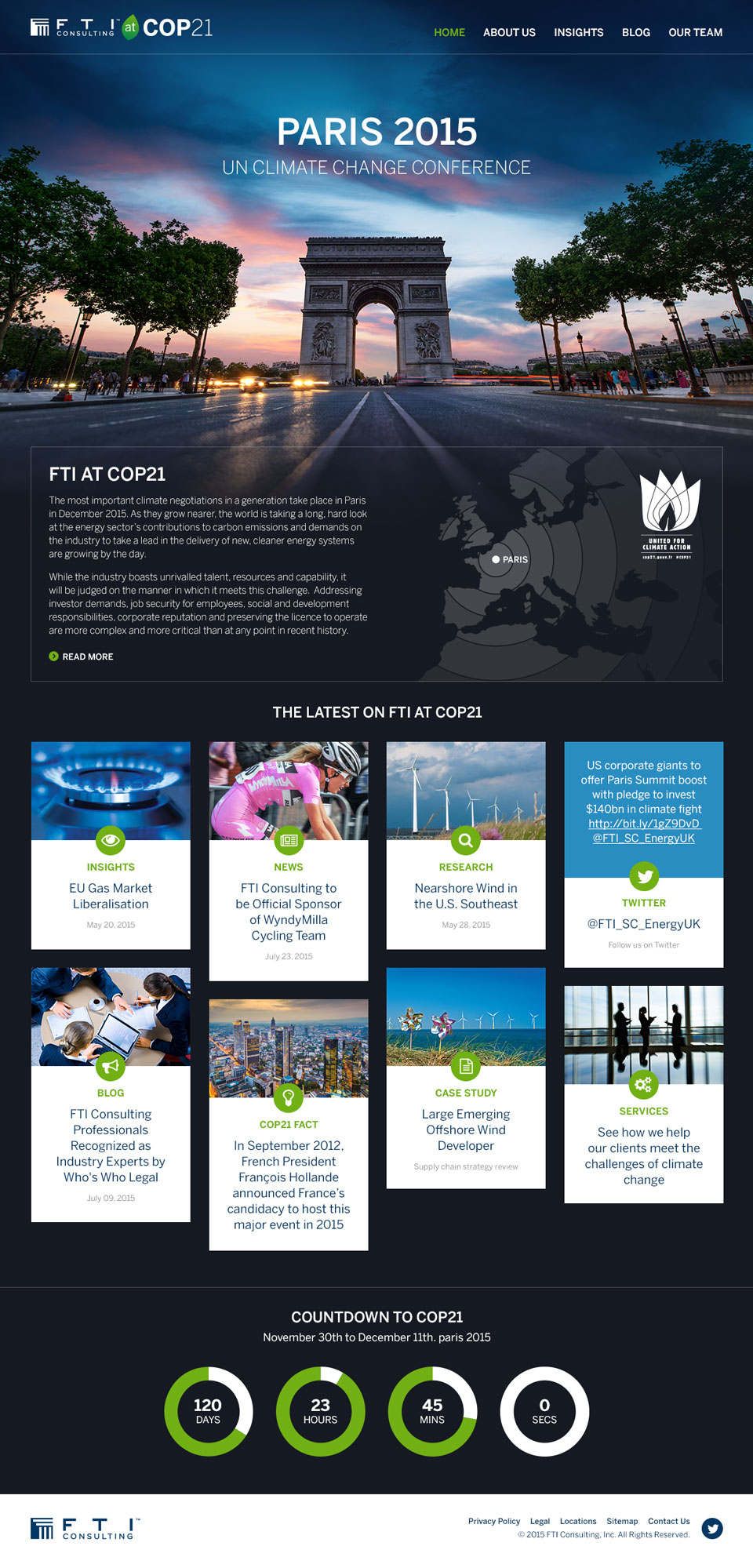 FTI at COP21 website