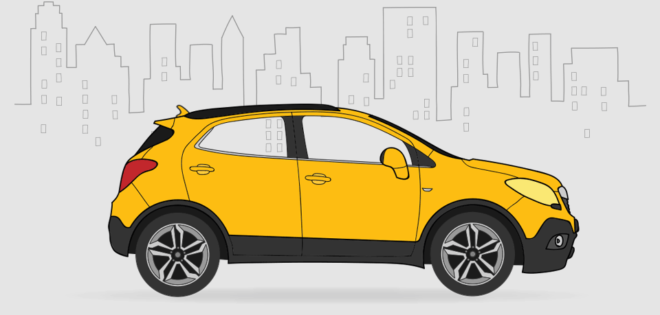 Opel OnStar car illustration