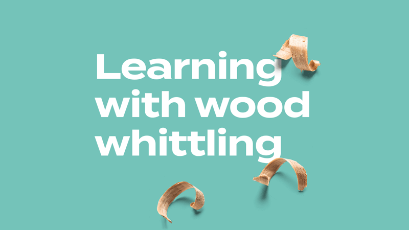 Learning with wood book cover